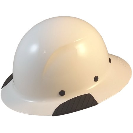 DAX Fiberglass Composite Hard Hat - Full Brim - White Construction Helmet
