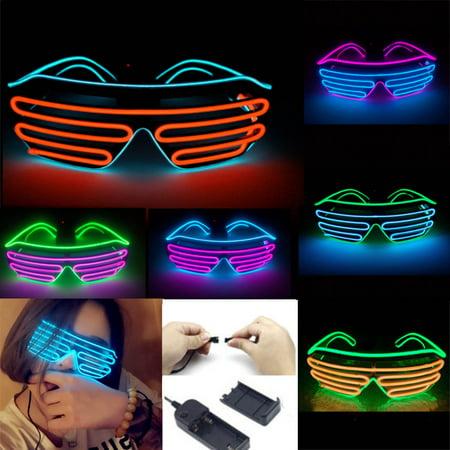 Moaere LED Toy Glasses Flashing LED Multi Spectacles Slotted Shades Eyeglasses for - Novelty Spectacles
