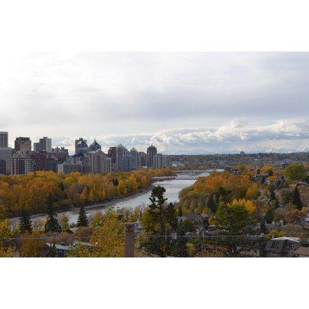 LAMINATED POSTER Calgary Autumn River Canada City Rockies Poster Print 11 x 17](Halloween City Calgary)