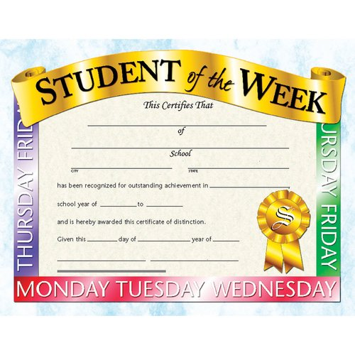 Hayes School Publishing Student Of The Week Certificate (Set of 30)