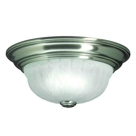 - Dolan Designs Richland - One Light Flush Mount, Satin Nickel Finish