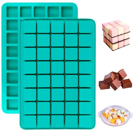 40-Cavity Square Chocolate Candy Silicone Molds Christmas-Hard Candy Caramel Baking Mold For Making Fondant, Jello, Pudding, Truffles, Gummies, Butter, Gingerbread, Brownie, Ice Cube Tray 1 PC