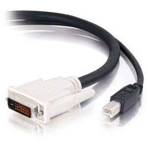 C2G 10ft DVI Dual Link + USB 2.0 KVM Cable - video / USB cable - 10 ft