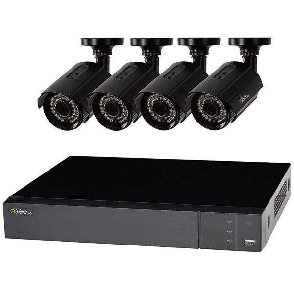 Q-See 8 Channel 4 Camera 1080p Security System QTH84-4DF with 1TB HDD DVR