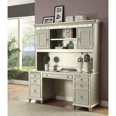 Furniture Of America Pam Glam Mirror Trim Home Office Desk And