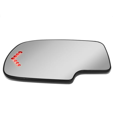 For 1999 to 2007 Chevy Silverado Tahoe GMC Sierra Left Side Door Rear View Mirror Glass Replacement Lens w/Heater+LED Turn Signal 00 01 02 03 04 05 06 Silverado Side View Mirror