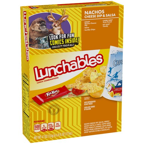Lunchables Nachos Cheese Dip & Salsa Lunch Combination, 4.7 oz