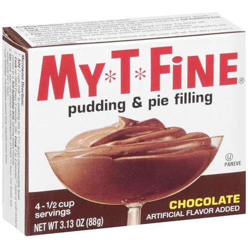 My*T*Fine: Pudding & Pie Filling Chocolate, 3.13 Oz