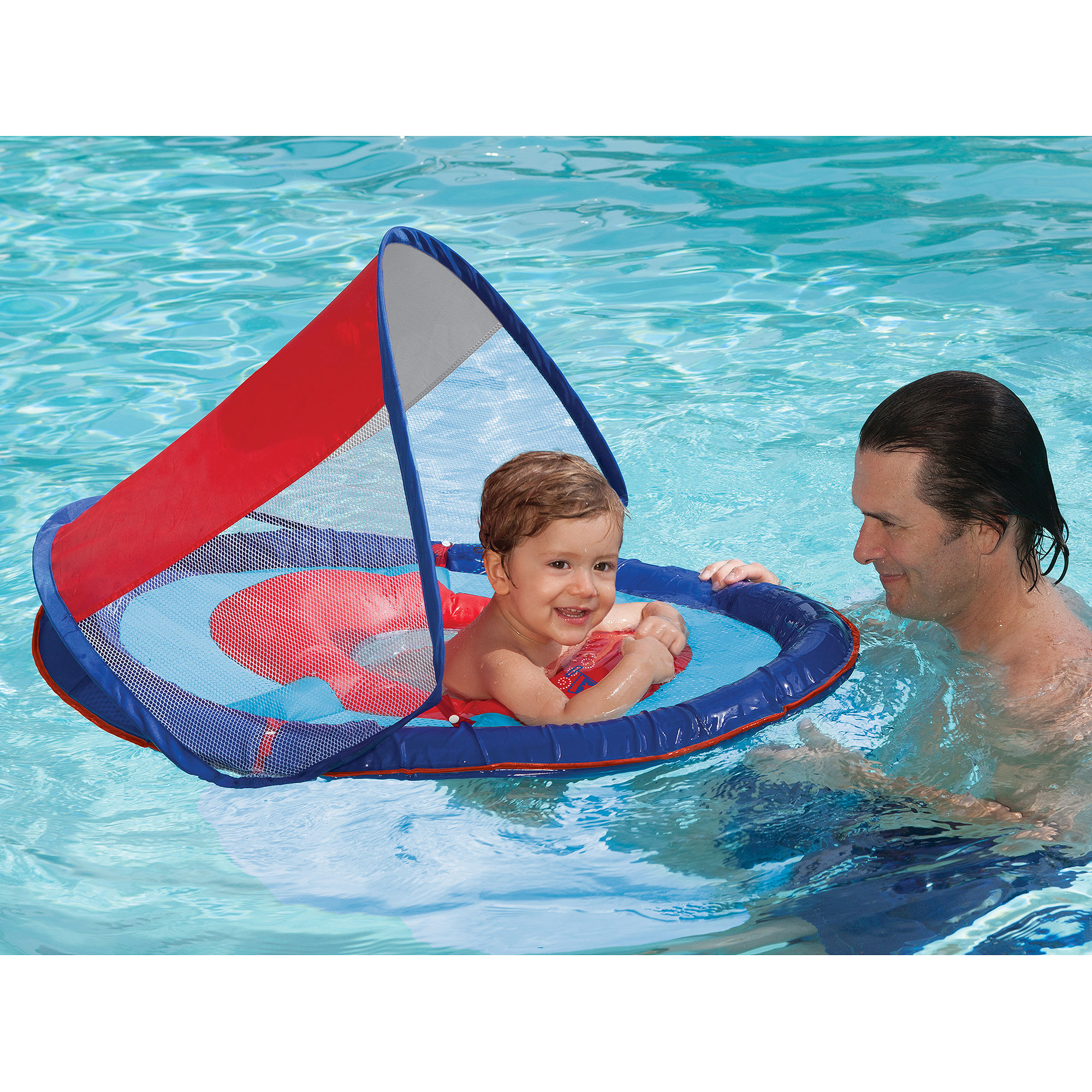 sc 1 st  Walmart & SwimWays Baby Spring Float with Sun Canopy Blue - Walmart.com