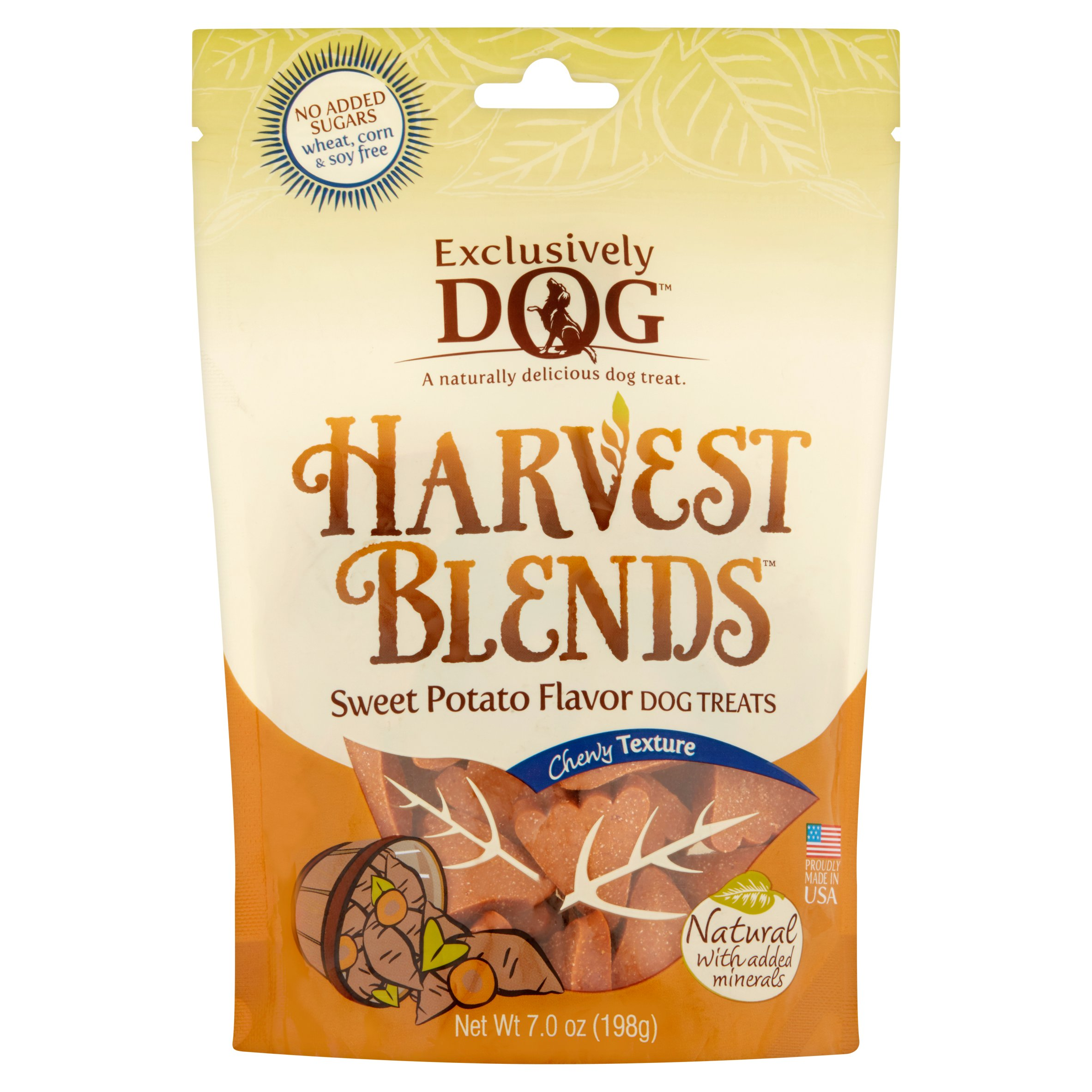Exclusively Dog Harvest Blends Sweet Potato Flavor Dog Treats, 7.0 oz