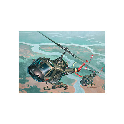 04476 1/48 Bell UH-1C/B Huey Hog Multi-Colored