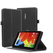 RCA 7 Voyager Case ,Mignova Premium PU Leather Folding Stand Folio Cover Multi-Angle Viewing Folio Case for RCA Voyager II 7 / RCA Voyager 7 (2017 Newest) / RCA 7 Voyager Pro Tablet(Black)