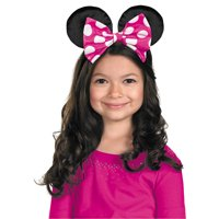 Fun Express - Minnie Mouse Ears W/rev Bow for Halloween - Apparel Accessories - Costume Accessories - Costume Kits - Halloween - 1 Piece