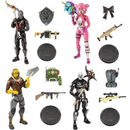 McFarlane Fortnite Series 1 Raptor, Cuddle Team Leader, Black Knight & Skull Trooper Set of 4 Action Figures - Skull Knight