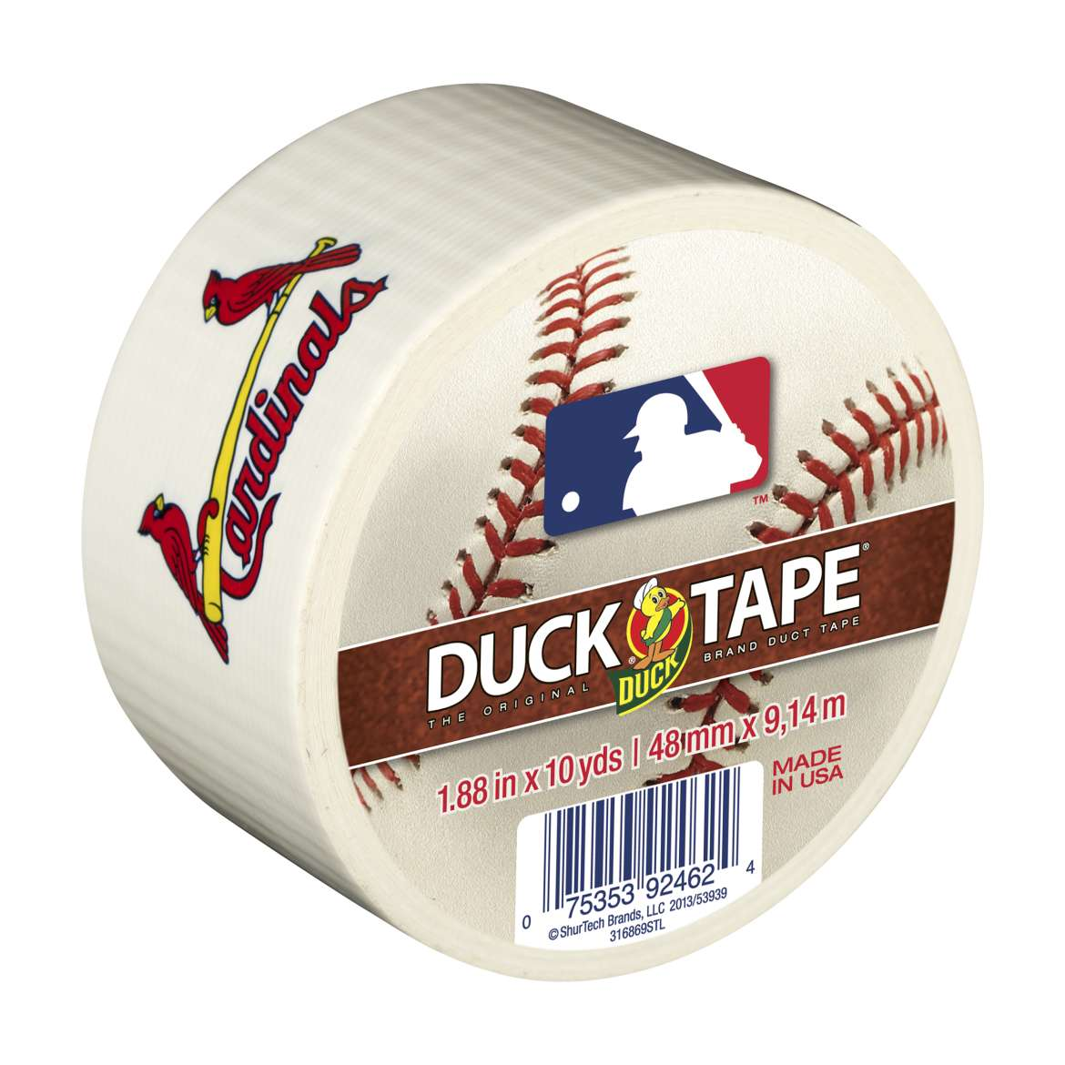 Duck Brand MLB Licensed Duct Tape, 1.88 in. x 10 yds., St. Louis Cardinals