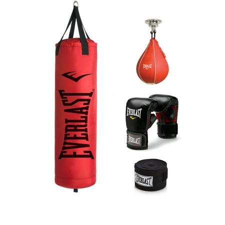 Everlast 70 lb Poly Canvas Red Heavy Bag Kit (Everlast 70 Lbs Heavy Bag Starter Kit)