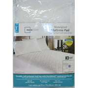 Mainstays Waterproof Fitted Polyester Mattress Pad (Twin)