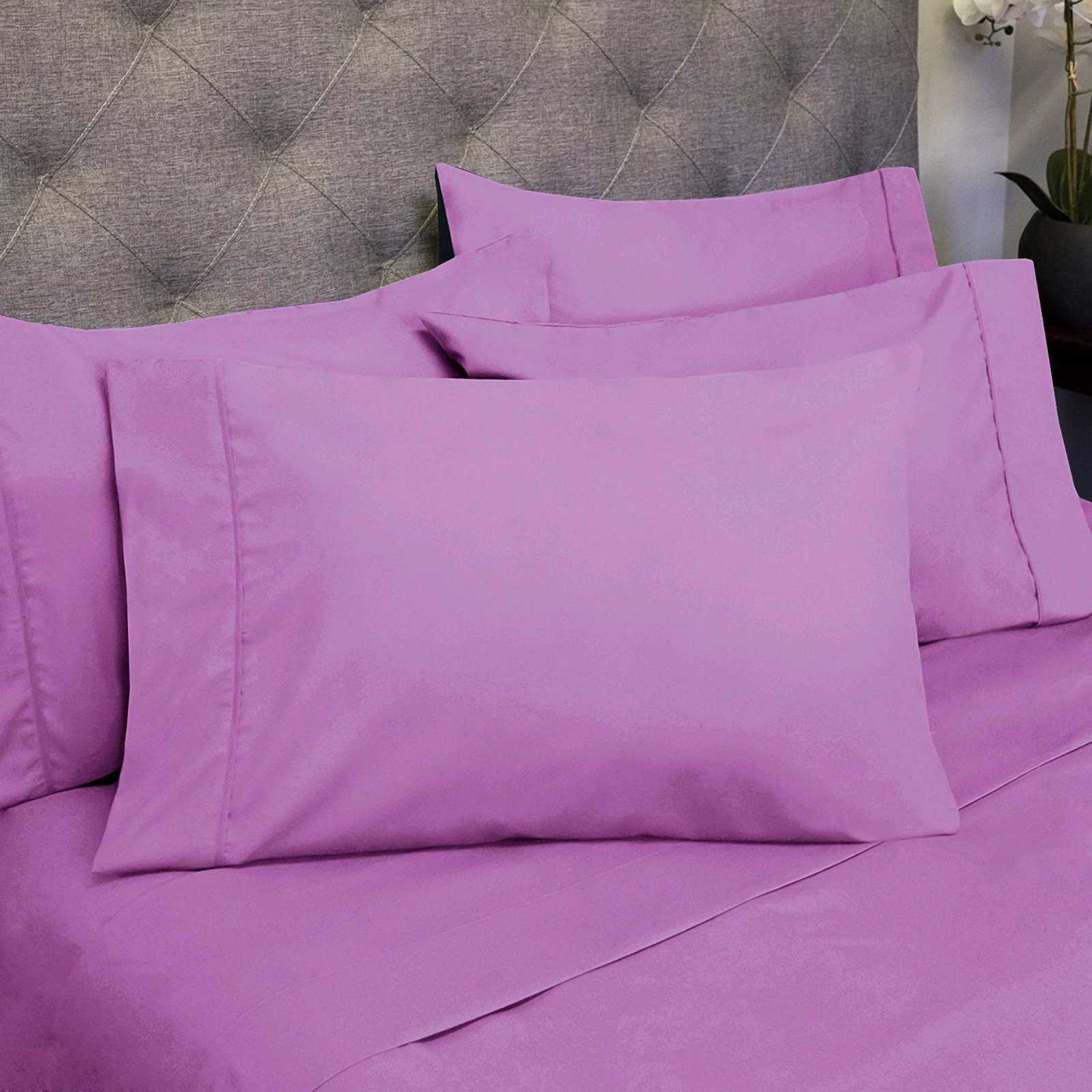 Egyptian 6 Piece 1500 Thread Count Bedroom Sheet and Pillowcase Set by Sweet Home Collection