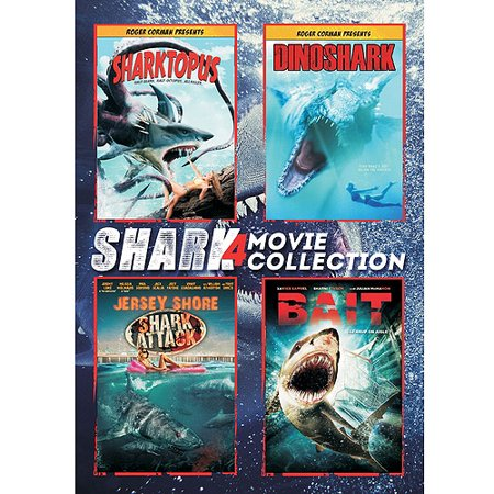 Shark 4 Pack  Jersey Shore Shark Attack   Sharktopus   Bait   Dinoshark  Widescreen