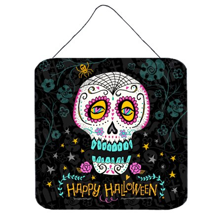 Diy Happy Halloween Sign (Happy Halloween Day of the Dead Wall or Door Hanging Prints)