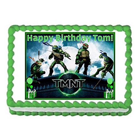 Teenage Mutant Ninja Turtles Edible Cake Topper Image 1