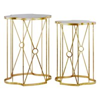 Urban Trends Collection: Metal Table, Coated Finish, Gold