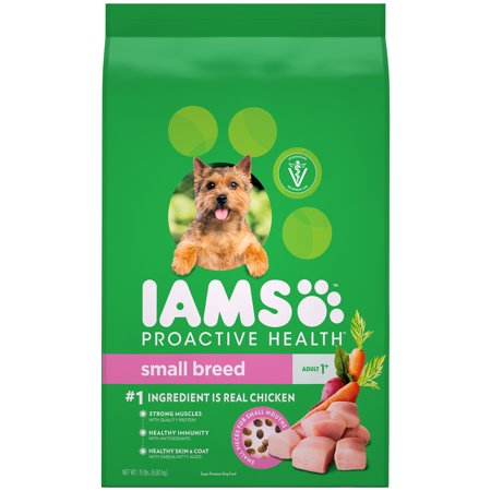 IAMS PROACTIVE HEALTH Small & Toy Breed Adult Dry Dog Food Chicken, 15 lb.