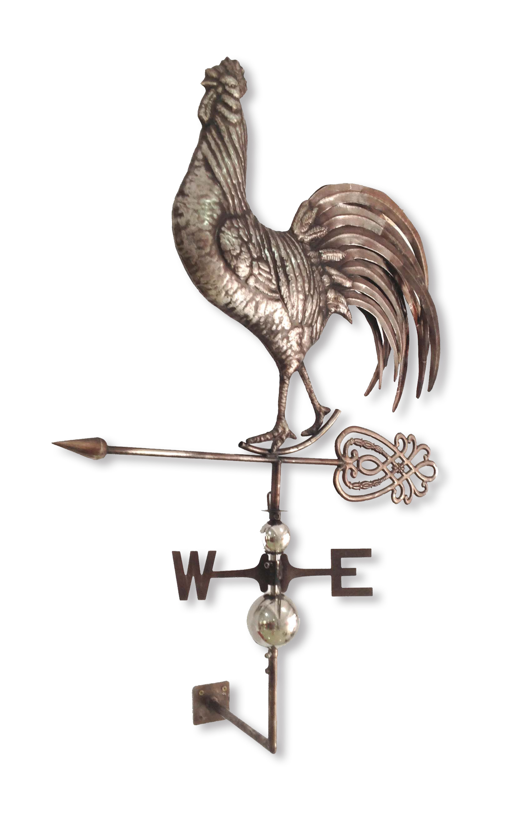 100% Stainless Steel Crowing Rooster Weathervane by Backyard Expressions