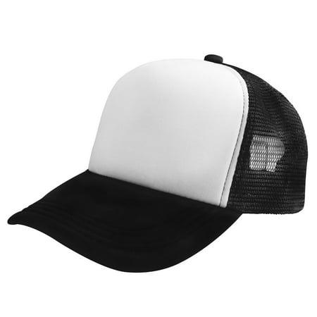 Zodaca Trucker Hat Baseball Cap Mesh Caps Blank Plain Mesh Hats White Black  - image ... f06c4d85ea9