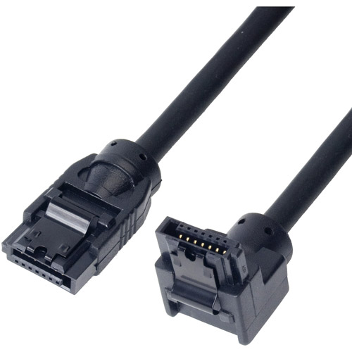 Link Depot 0.5m SATA 6Gbps Cable, Straight to Right Angle