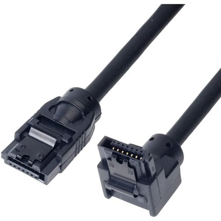Link Depot 0 5M Sata 6Gbps Cable  Straight To Right Angle