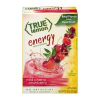 (2 Pack) True Lemon Energy Drink Mix, Wild Cherry Cranberry, 1 Box