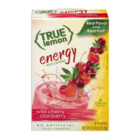 Energy Booster Cranberry Pomegranate ((4 Pack) True Lemon Energy Drink Mix, Wild Cherry Cranberry, 1 Box )