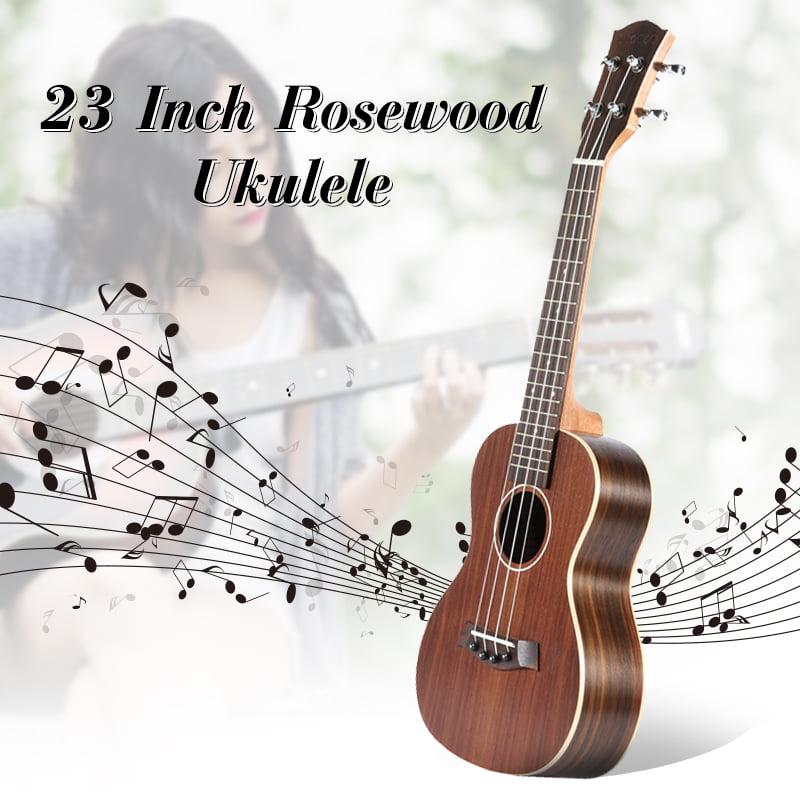 """23"""" Rosewood Hawaiian Guitar Ukulele 19 Frets Instrument Concert Acoustic Ukulele by"""
