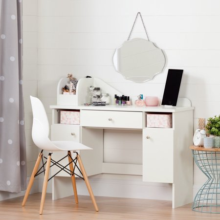 South S Vito Makeup Kids Desk With Drawer White