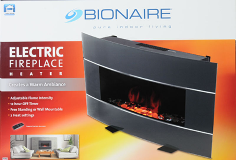 Bionaire Electric Fireplace Black - Electric Fireplace Heat