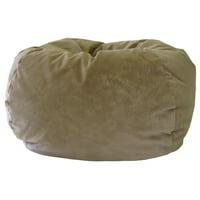 "GOLD MEDAL® Bean Bag, Microsuede, Small 105"", Black"