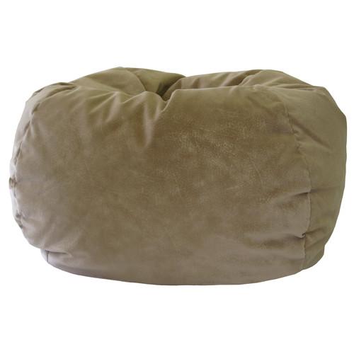 """Small 105"""" Black Microsuede Bean Bag"""