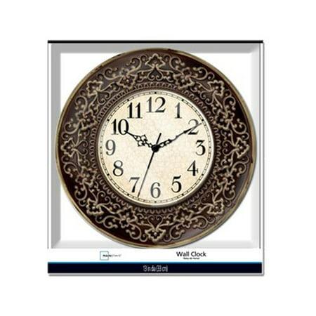 Mainstays 13 Quot Ornate Wall Clock Walmart Com