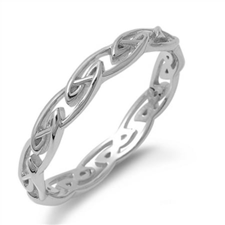 Celtic Eternity Infinity Knot Ring New .925 Sterling Silver Band Size 11 925 Silver Celtic Ring
