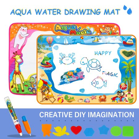 Magic Water Drawing Mat Water Painting Draw Writing Mat Kid Developmental Doodle Board Toy Educational Toy