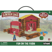LINCOLN LOGS Fun on the Farm - Real Wood Logs - 102 parts - Ages 3 and up