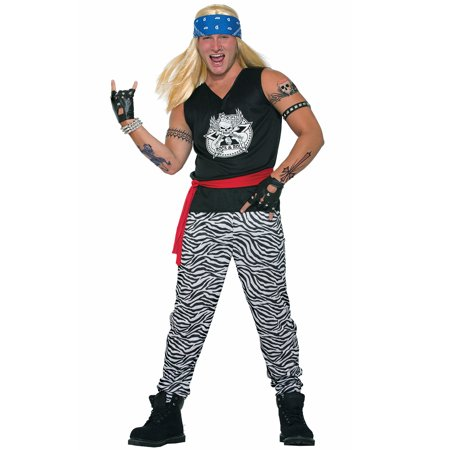 80s Rock Star Adult Costume - 80s Attire Male