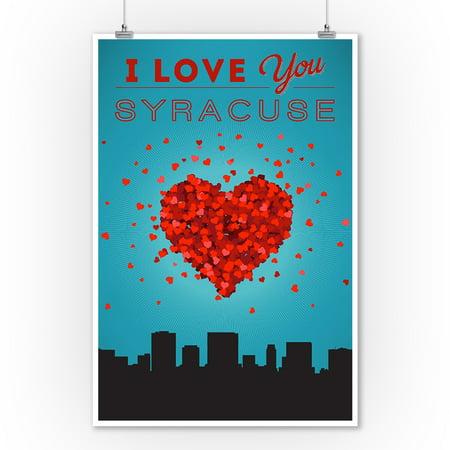 I Love You Syracuse, New York - Lantern Press Artwork (9x12 Art Print, Wall Decor Travel Poster)](Party City Syracuse New York)