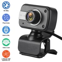 Full 1080P HD Webcam with Microphone, Computer Camera for Gaming Conferencing, Laptop Desktop Webcam, USB Face Cam fits for Mac YouTube Skype OBS, Free-Driver Installation Fast Autofocus