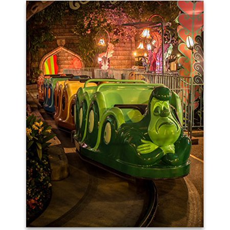 Disneyland Alice in Wonderland Ride - 11x14 Unframed Art Print - Great Gift for Disney Lovers - Alice In Wonderland Outdoor Decorations