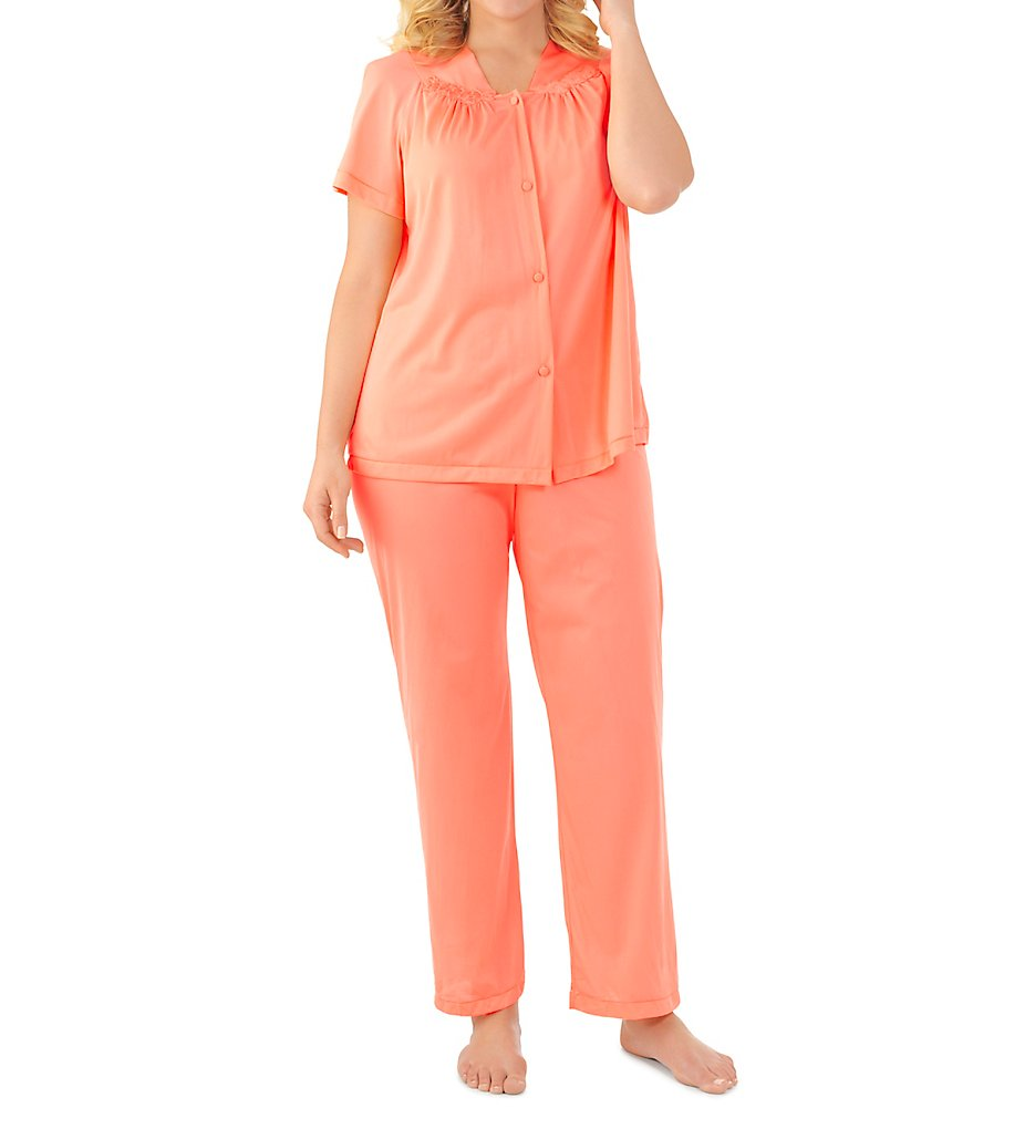 Vanity Fair Colortura Sleepwear Women`s Short-Sleeve Pajama Set, S,  Primarose - Walmart