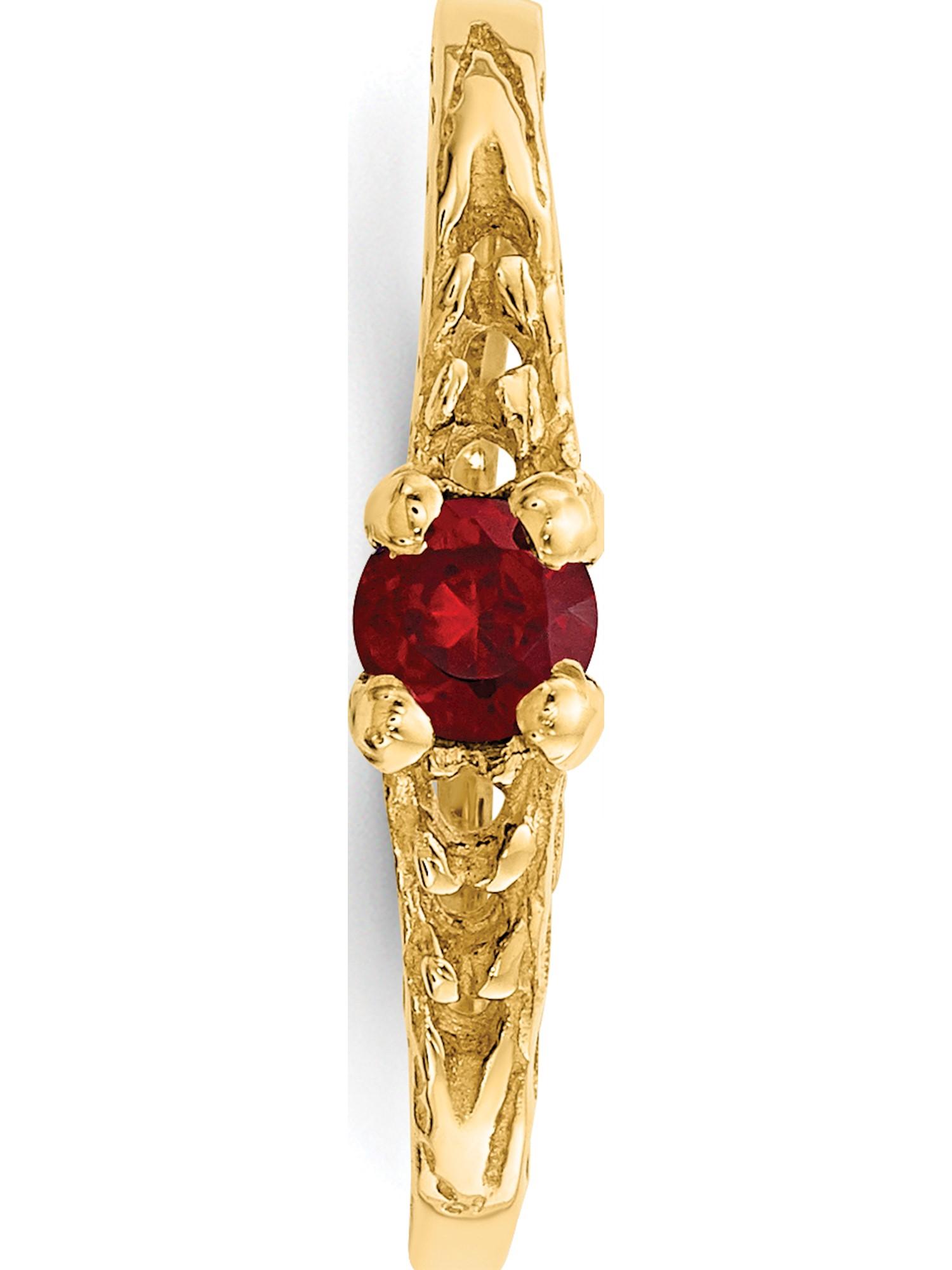 Madi K 3mm Garnet Earrings