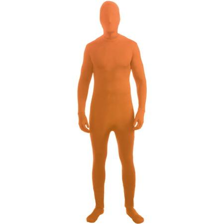 Child Orange Full Body Zentai Suit I'm Invisible Disappearing Man - Full Body Panda Costume