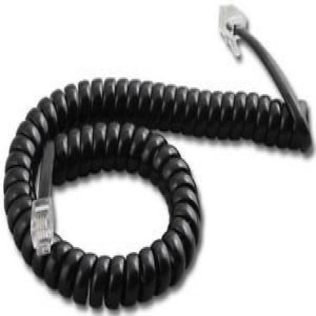 Panasonic 9 Ft. Black Handset Cord For KX-T7000/7100/7200/7400 Series